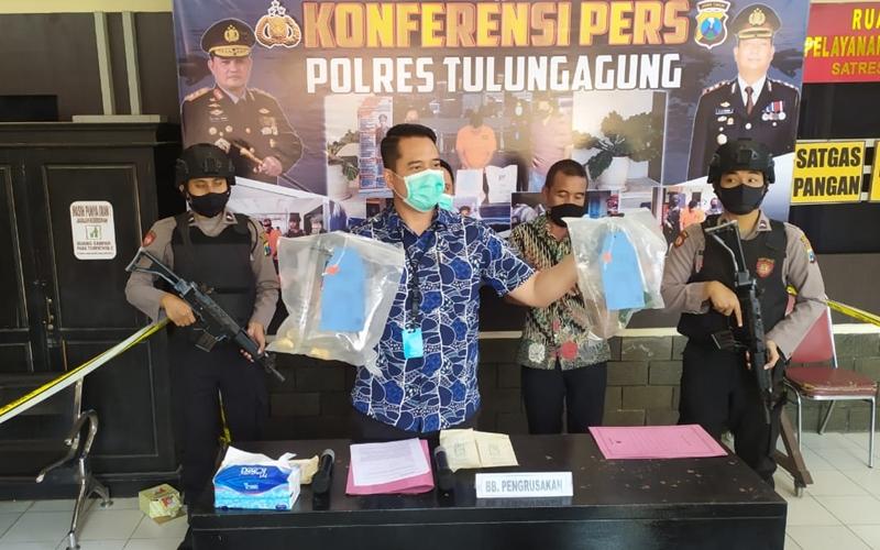 Polisi Tetapkan Tersangka Pengrusakan di Pendopo Tulungagung