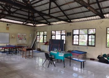 Ruang OSIS SMAN 1 Batam, lokasi kejadian percobaan pemerkosaan yang menimpa wali calon murid, difoto pada 10 Juli 2020. (Foto: Fathur Rohim)