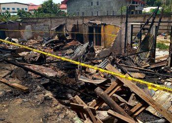 kebakaran di Bengkong Batam