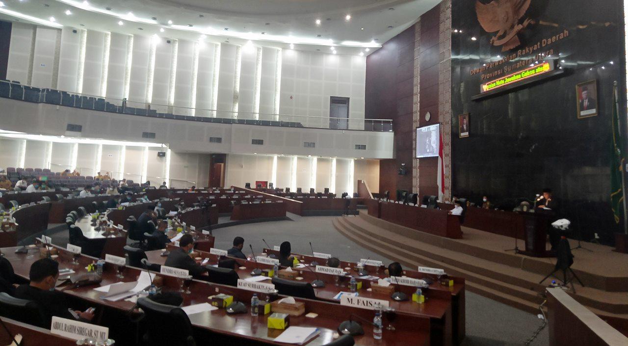 sidang paripurna DPRD Sumut