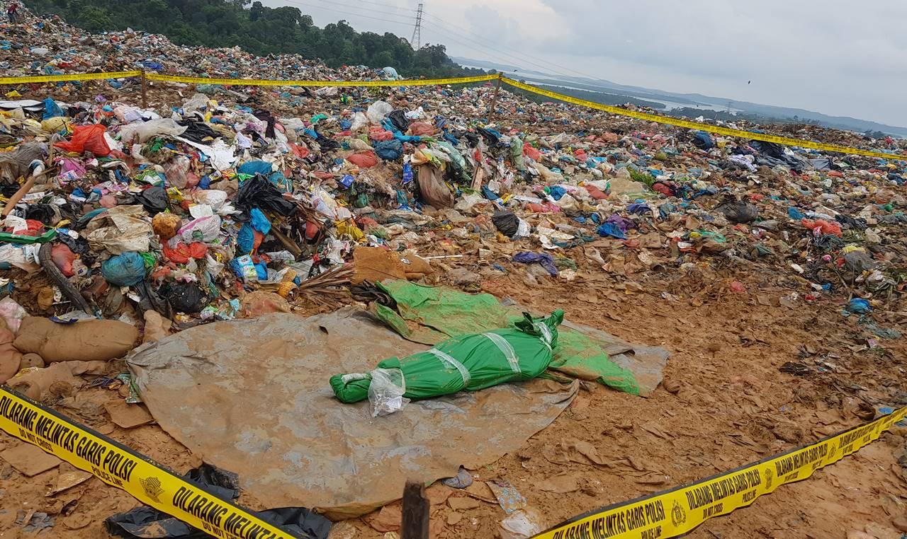 jasad tempat sampah Barelang Batam