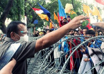 mahasiswa Medan demo DPRD Sumut