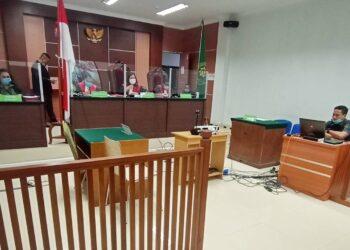 Persidangan di Pengadilan Negeri Batam pada 9 November 2020. (Foto: Joni Pandiangan)