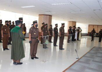 Pelantikan Satuan Tugas 53 Kejaksaan Agung Republik Indonesia. (Foto: arsip Azmi Syahputra)
