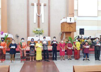 Acara Natal di HKBP Lubuk Baja. (Foto: Dokumentasi panitia)