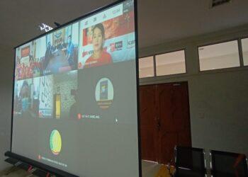Persidangan virtual di Pengadilan Negeri Batam. (Foto: Joni Pandiangan)