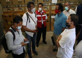 Panel Room Unit Listrik Hang Nadim.(Foto: Dokumentasi Humas BP Batam)
