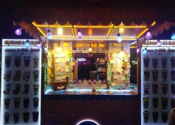 Gerobak milkshake Kedai Favorit milik Yunut  Heriyanto di pasar jajanan WTB, Batam, Kepulauan Riau. (Foto: Donella Bangun)