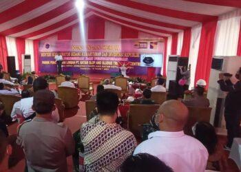 Menteri Koordinator Bidang Kemaritiman Republik Indonesia, Luhut Binsar Panjaitan, meresmikan operasional PT Batam Slop and Sludge Treatment Center (BSSTEC) di kawasan Jembatan II Barelang, Batam, Kepulauan Riau, Kamis, 18 Maret 2021. (Foto: Fathur Rohim)
