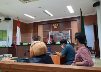 Suasana persidangan di Pengadilan Negeri Batam. (Foto: Muhamad Ishlahuddin)