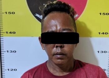 Pencuri berinisial BM (42), warga Kecamatan Lubuk Baja, Kota Batam, Kepulauan Riau. (Foto: Arsip Polsek Lubuk Baja)