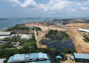 Banjir di sekitar area Kawasan Pengolahan Limbah Industri (KPLI) Kabil. (Foto: Humas BP Batam)