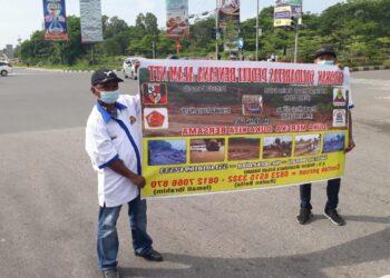 Gabungan organisasi masyarakat di Kota Batam, Kepuluan Riau, menggalang dana untuk korban bencana alam. (Foto: Arsip pribadi narasumber)