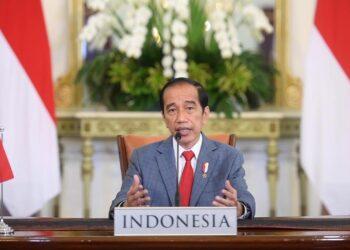 Presiden Joko Widodo berpidato dalam Konferensi Tingkat Tinggi (KTT) Perubahan Iklim atau Leaders Summit on Climate secara virtual dari Istana Kepresidenan Bogor, Jawa Barat, Kamis 22 April 2021. (Foto: Istimewa)