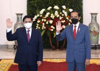 Presiden Joko Widodo dengan Perdana Menteri (PM) Vietnam Pham Minh Chinch di Istana Bogor, Jumat 23 April 2021. (Foto: Istimewa)