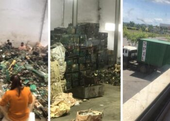 Aktivitas pemilahan limbah elektronik di dalam gudang blok C-3A kawasan Horizon Industrial Park, Kota Batam, Kepulauan Riau. (Foto: Arsip narasumber)