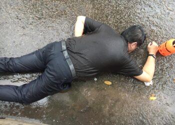 Made Arnawa (57) ditemukan tewas di samping ruko Pasar Sagulung, Sabtu, 10 Juli 2021. (Foto: Arsip narasumber)