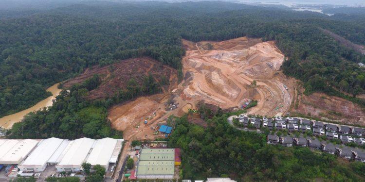 Lokasi proyek belakang Kawasan Panbil, Kota Batam, Kepulauan Riau. (Foto: Akar Bhumi Indonesia)
