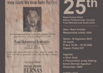 Poster Koalisi Masyarakat untuk Udin. (Foto: K@MU)