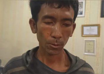 Tangkapan layar dari hasil rekaman video wawancara dengan pelaku. Foto: bhinekavideo