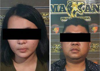 Pasangan suami istri menjadi tersangkan penggelapan. Foto: Humas Polresta Barelang