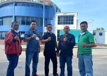 (2) Lima Pengurus Daerah (Pengda) Batam Judoka Kungfu Indonesia (JKI) Kepulauan Riau, saat tiba di Dumai, Riau, untuk menghadiri Munas JKI di Pematang Siantar, Sumatera Utara, 9-10 Oktober 2021.
