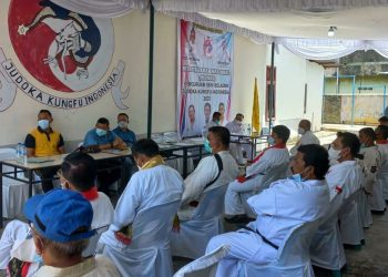 Musyawarah Nasional (Munas) perguruan seni bela diri Judoka Kungfu Indonesia (JKI) di Kota Pematang Siantar, Sumatera Utara, 9-10 Oktober 2021. (Foto: Fathur Rohim)